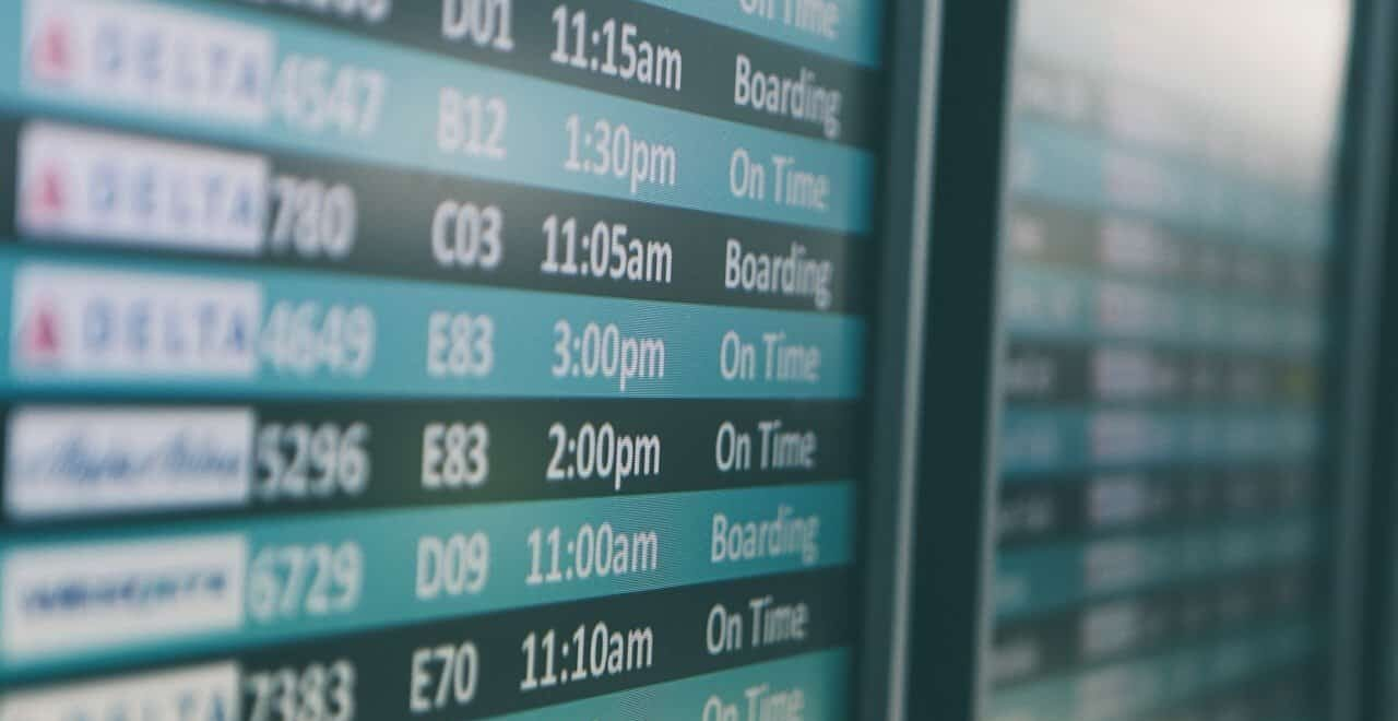 Аэропорт, фото табло